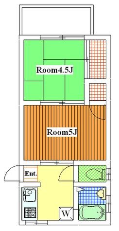 石川台 8分アパート / 203 部屋画像1