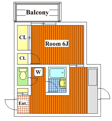 第一東京園マンション / 205 部屋画像1
