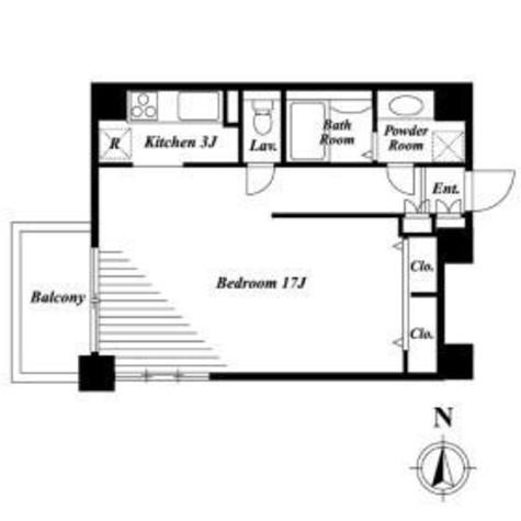 ステラメゾン恵比寿(旧EBISU Dir) / 1301 部屋画像1