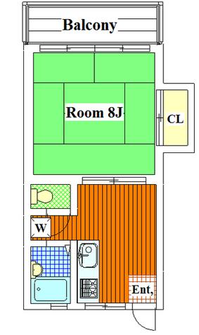 Todoroki 5 min Apartment / 103 部屋画像1