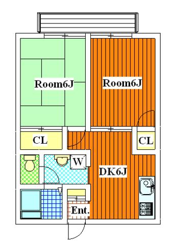 等々力 15分アパート / 102 部屋画像1