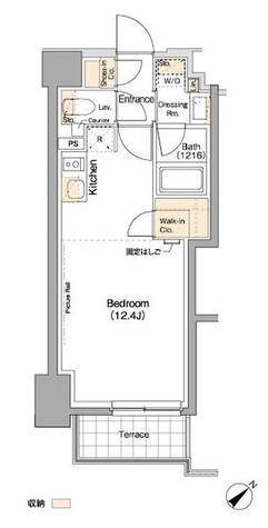 ザ・パークハビオ横浜東神奈川 / 1階 部屋画像1
