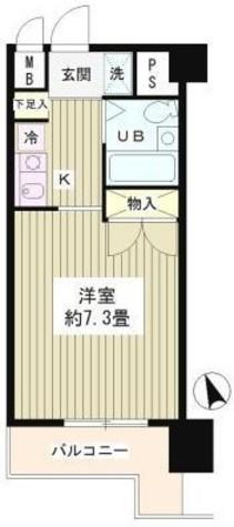 フォレスタ御苑前 / 8階 部屋画像1