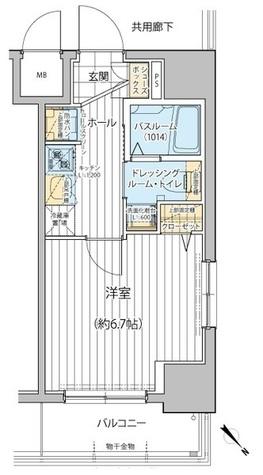 エステムプラザ川崎 / 406 部屋画像1
