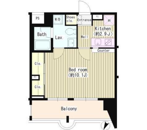 ホワイトフロント / 4階 部屋画像1