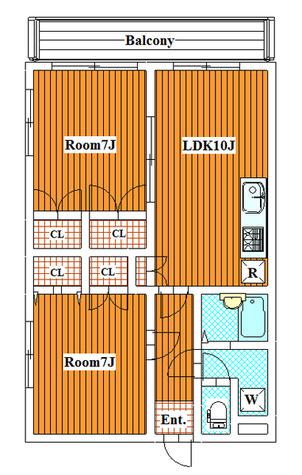 クリスタルマンション / 3階 部屋画像1