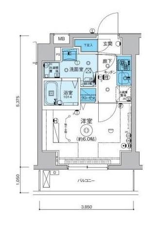 リヴシティ横濱インサイト / 4階 部屋画像1