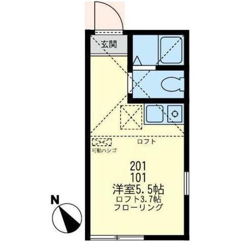 ユナイト花月園ポンテヴェッキオ / 1階 部屋画像1