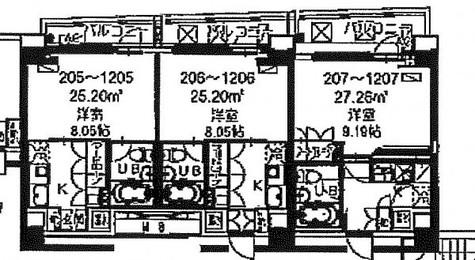 HF八丁堀レジデンスⅡ / 6階 部屋画像1