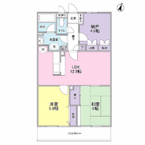 MIA CASA新城(ミアカーサ) / 1階 部屋画像1