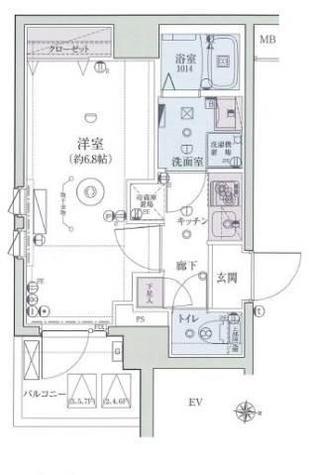 リヴシティ横濱インサイトⅡ / 2階 部屋画像1