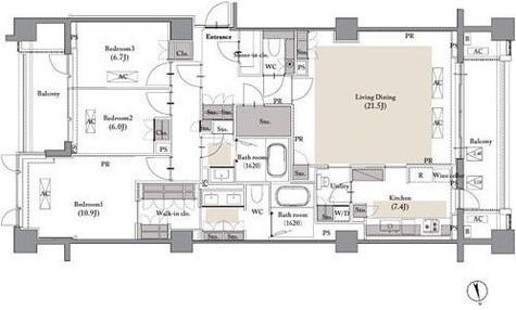 ROPPONGI PLACID(六本木プラシッド) / 4階 部屋画像1