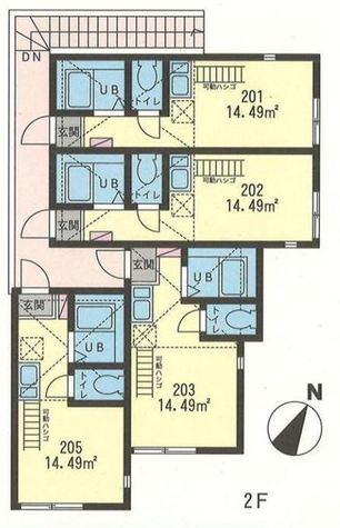 G・Aヒルズ小田2丁目 / 2階 部屋画像1