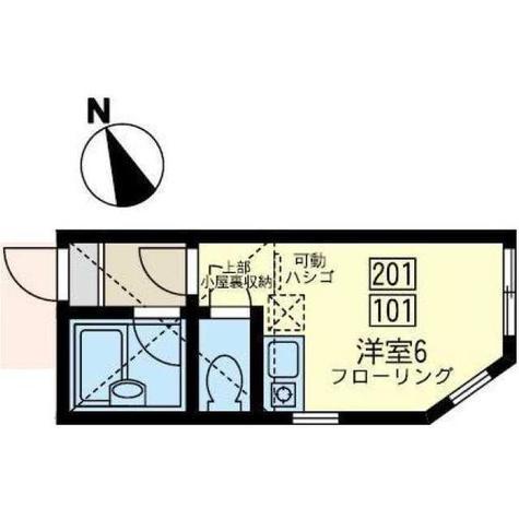 ユナイト桜本アビー・ワンバック / 2階 部屋画像1