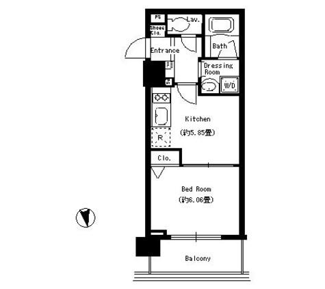 パークキューブ上野 / 12階 部屋画像1