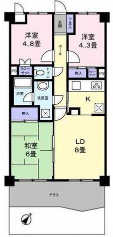 エクセル弘明寺西 / 2階 部屋画像1