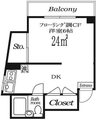 市ヶ谷春日マンション / 6階 部屋画像1
