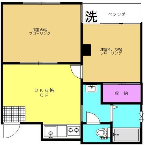 キングスコート / 1階 部屋画像1