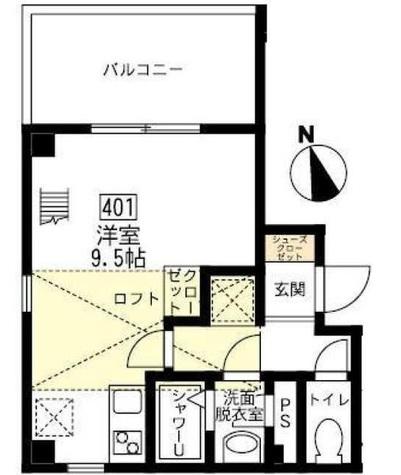 ブリティッシュクラブ宮川町 / 401 部屋画像1