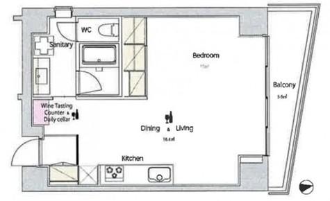 ワインアパートメント / 8階 部屋画像1