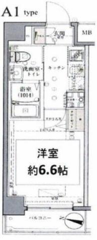 グロース西横浜Ⅱ / 506 部屋画像1