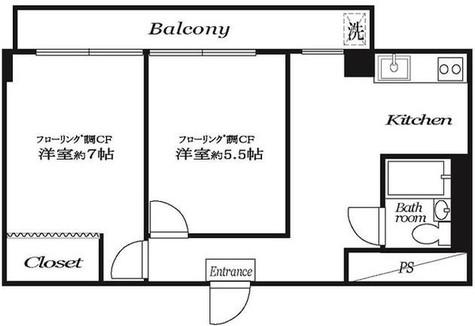 市ヶ谷春日マンション / 7階 部屋画像1