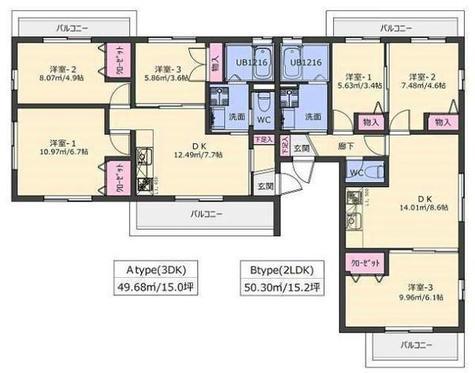 上大岡ヒルズWEST / 2階 部屋画像1