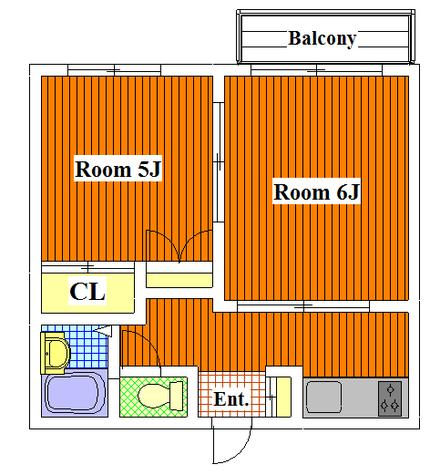 フェリース多摩川 / 202 部屋画像1