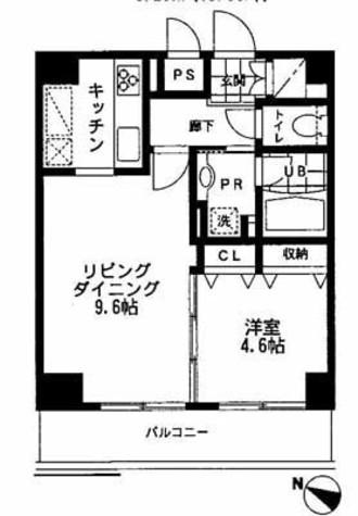 レジディア文京本郷Ⅱ / 9階 部屋画像1