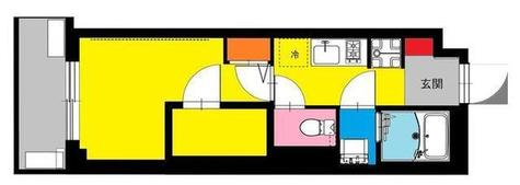 b'CASA Yoshinocho(ビーカーサ吉野町) / 5階 部屋画像1