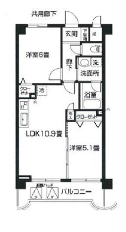 エルミタージュ横浜ベイ / 102 部屋画像1