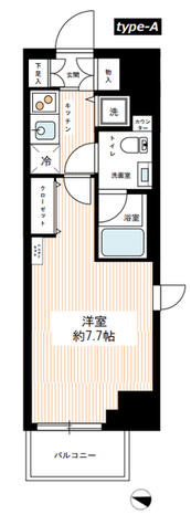 HY's YOKOHAMA Felice(ハイズヨコハマフェリーチェ) / 6階 部屋画像1
