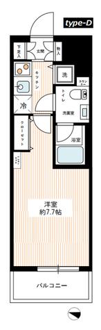 HY's YOKOHAMA Felice(ハイズヨコハマフェリーチェ) / 504 部屋画像1