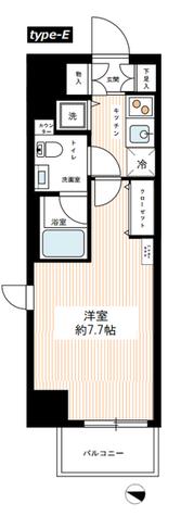 HY's YOKOHAMA Felice(ハイズヨコハマフェリーチェ) / 505 部屋画像1