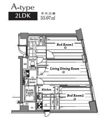 アメニティ55 / 4階 部屋画像1
