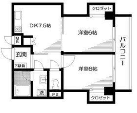 ライジングマンション / 302 部屋画像1