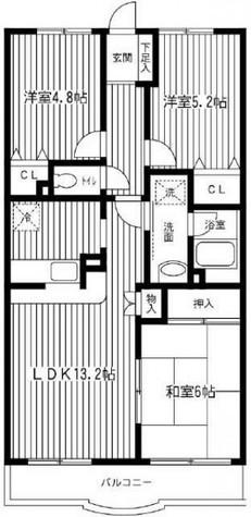洋光台山の手マンション / Aタイプ 部屋画像1