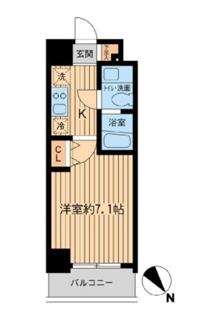 レジディア本厚木 / 4階 部屋画像1
