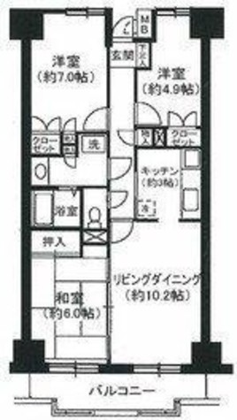都筑フォーレ 一ツ木 / 4階 部屋画像1