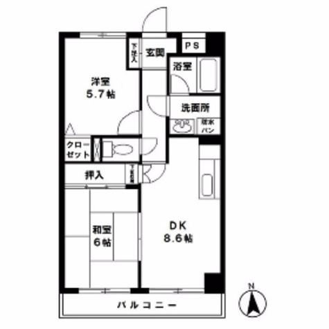 デューヒルズ壱番館 / 6階 部屋画像1
