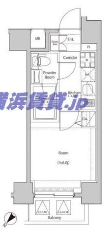 シーフォルム関内(SYFORM) / 10階 部屋画像1