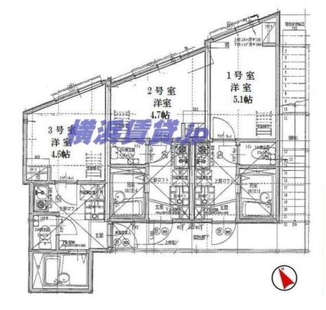 リーヴェルLeco横浜ActⅡ / 2階 部屋画像1