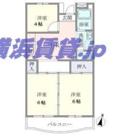 若尾山ハイツ / 4階 部屋画像1