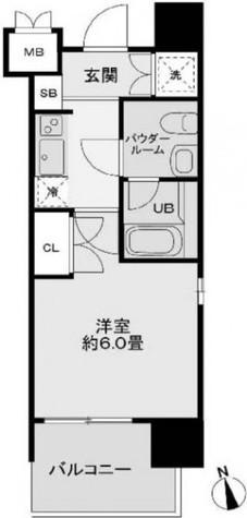レジディア新宿御苑 / 5階 部屋画像1