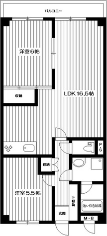 朝日石川台マンション・エイワンビル / 302 部屋画像1