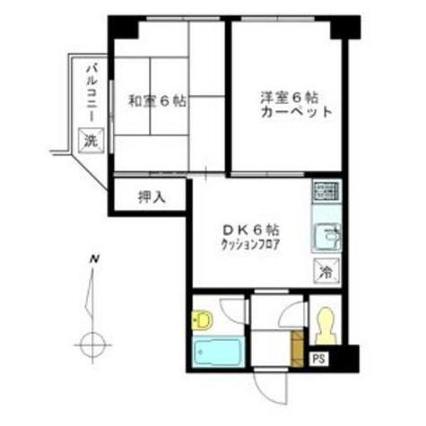 グリーンキャピタル広尾 / 4階 部屋画像1