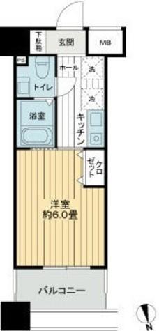 メビウス新宿御苑(旧プレイアデ新宿御苑) / 9階 部屋画像1
