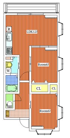 オーキッドハウス / 305 部屋画像1