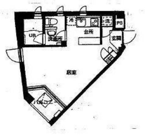 北幸ぐうはうすB棟 / 3階 部屋画像1