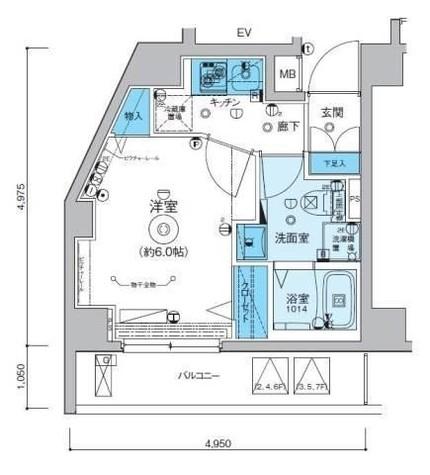 リヴシティ横濱インサイト / 2階 部屋画像1